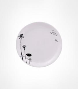 CORNET-ACRLYIC QUATER PLATE WHITE