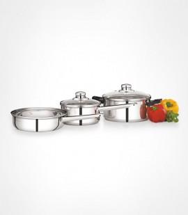 PREMIER STEEL SAUCE PAN SET 0061501 (5 Pcs)