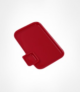CORNET-ACRLYIC SNACK PLATES RED