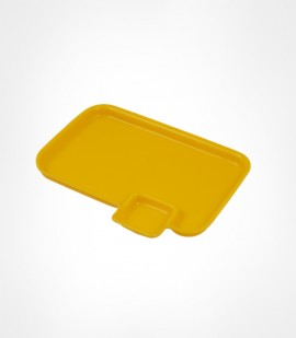 CORNET-ACRLYIC SNACK PLATE YELLOW