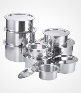 Aluminium tope with lid
