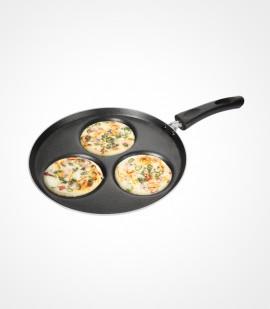 Non-stick mini uthappam / pancake pan - 3 cavity