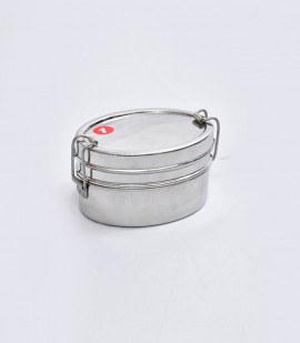 OVAL DOUBLE LUNCH BOX