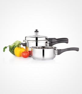 Premier Stainless Steel Combo Pack 3 lit PC + Pressure Pan Small SG-523
