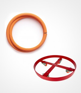 Lpg hose and  cylinder trolley combo pack