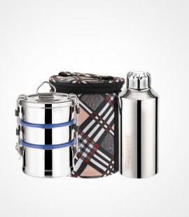 Shrinica Lunch Box and Premier SS Waterbottle Combo Pack